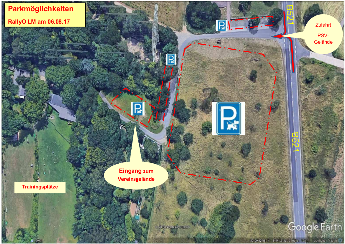 Parkmöglichkeiten Rally Obedience Landesmeisterschaft