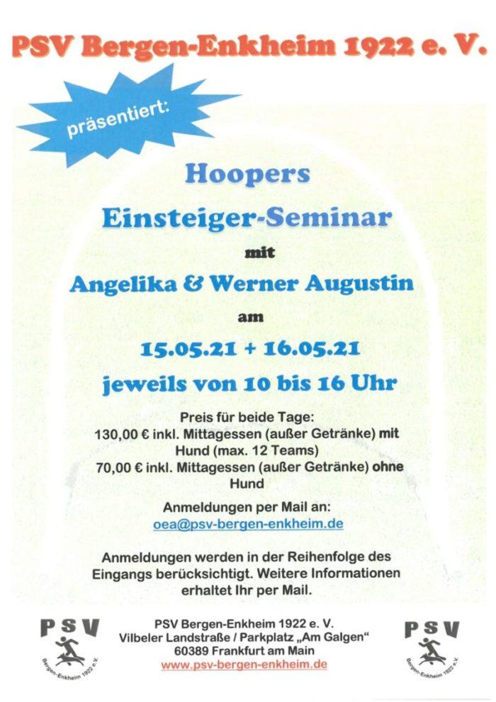 Einladung zum Hoopers Einsteiger-Seminar am 15. und 16.05.2021